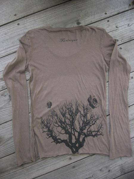 distressed goth girl long-sleeve (brown) :  long-sleeve goth rose funky
